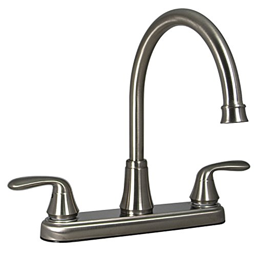 """Phoenix Faucets PF231402 Two-Handle 8"""" Hybrid Kitchen Faucet with High-Arc Spout - Brushed Nickel"""