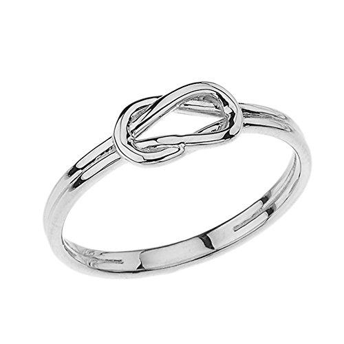 Modern 10k White Gold Hercules Love Knot Promise Ring (Size...