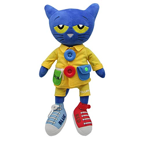 Pete the Cat - Learn To Dress Stuffed Plush Doll - Educational Toy for Toddlers