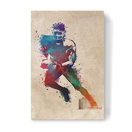 artboxONE Leinwand 30x20 cm Sport American Football Player Sport von Justyna Jaszke