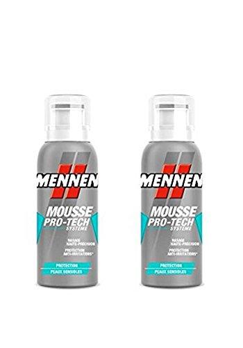MENNEN - Mini-mousse à Raser Homme Protection Peaux Sensibles 100 ml - Lot de 2