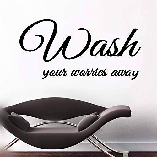 stickers muraux bebe juju et compagnie Wash Your Worries Away For Bathroom Washroom Home Decor