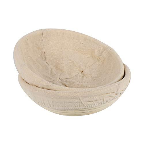 Mefeny 2 Paquetes Canasta de Prueba de Pan Recipiente de Masa para Hornear Regalos para Panaderos Cestas para Fermentada Cocido de Raspado Caja de Arranque