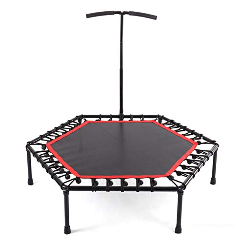 BUSUANZI Fitness Trampoline, Jumping Cardio Trainer, Indoor Sports Trampoline For Home Use With T-shaped Height Adjustable,48inch