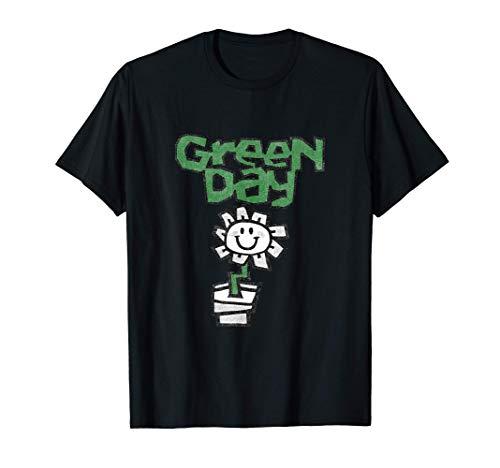 Green Day Flower Pot T-Shirt