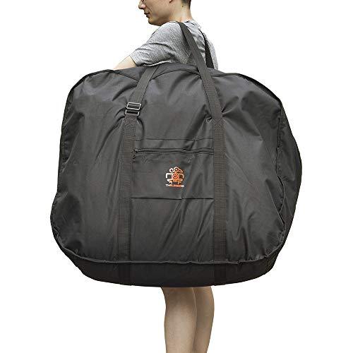 折り畳み自転車 収納袋 輪行バッグ 14~20インチ対応 専用ケース付き 輪行袋 車載・飛行機・航空輸送向き 持ち運び 便利 耐用 大きい収納袋 ブラック …