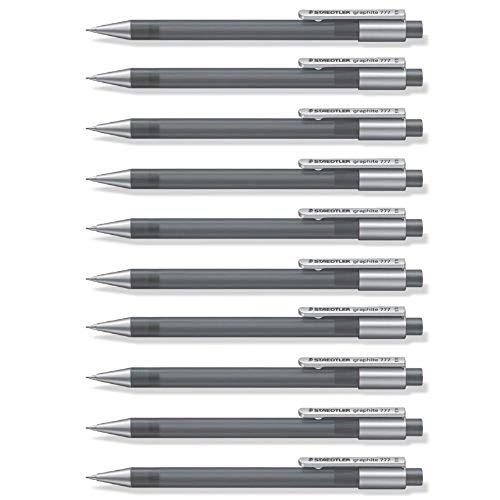 STAEDTLER Graphite - Portaminas de 0.5 mm, color gris, paquete de 10 piezas