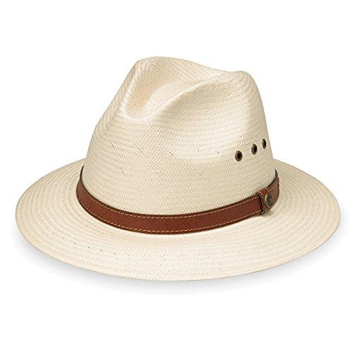 Wallaroo Hat Company Men's Avery Fedora – UPF 50+ Lightweight, Modern Sun Hat, Designed in Australia, Natural, Large/Extra Large