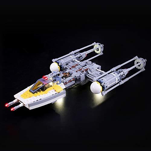 LIGHTAILING Conjunto de Luces (Star Wars Y-Wing Starfighter) Modelo de Construcción de Bloques - Kit de luz LED Compatible con Lego 75172 (NO Incluido en el Modelo)
