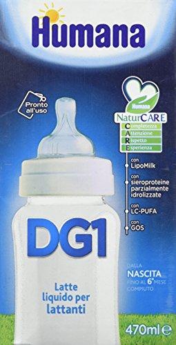 Humana Dg 1 Latte Liquido per Lattanti Dalla Nascita Fino al 6° Mese 470 Ml