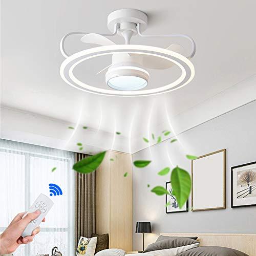 HOVERLY LED-Funkfernbedienung Deckenventilator mit Beleuchtung, Leise 6-Fach Einstellbare Windgeschwindigkeit mit Timer, 98 W Einstellbares Licht, Geeignet für Wohnzimmer, Esszimmer und Schlafzimmer