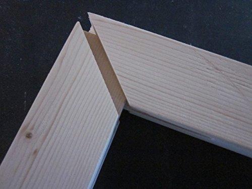Marco de madera para lienzo, marco completo para fotos de 40 x 50 cm