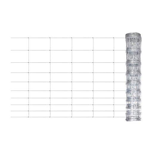 Festnight Clôture de Jardin Grillage galvanisé pour Plantes et Animaux Longeur: 50m Hauteur: 120 cm