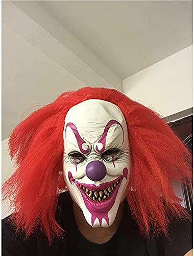BDTOT Halloween Máscara de Cabeza Muerta de Walking Dead,Máscaraespeluznante para Halloween, máscara terrorífica, máscara para Cicatrices, terrorista, 3D, Realista, Cobertura para la Cara miedante