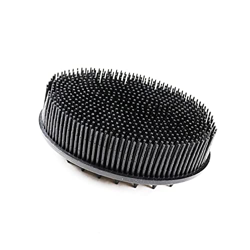 Silicone Body Scrubber, Silicone Loofah, Super Soft for Shower and Scalp Massage, an Upgrade Body Exfoliator to Traditional Shower Loofah (Black)