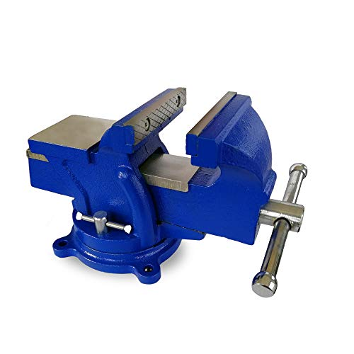 LiusTech Bench Vise 4 Inch Heavy Duty 360-Degree Swivel Base and Anvil...