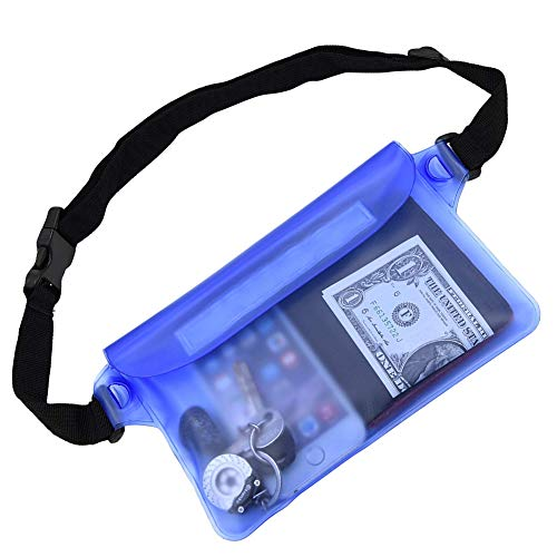 Tonando Waterproof Bags with Waist Shoulder Strap Best Dry Pouch Case to Keep Phone and Valuables Dry and Safe Perfect for Boating Swimming Snorkeling Kayaking Beach Water Parks