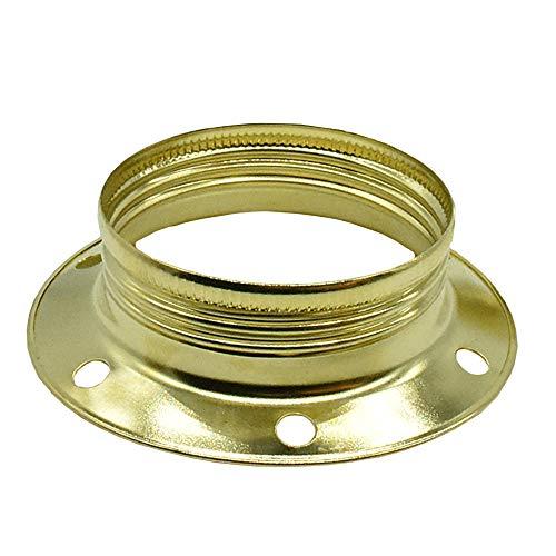 3 anelli a vite E27 in metallo color ottone per portalampada anello D.60 H.17,6 mm per paralumi o elementi in vetro
