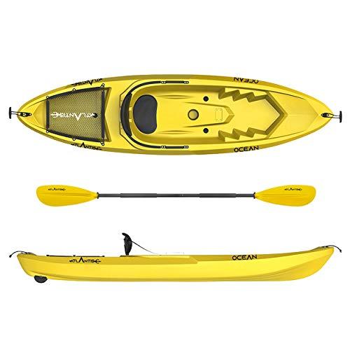 ATLANTIS Kayak-Canoa Ocean Giallo - cm 266 - schienalino - ruotino - pagaia