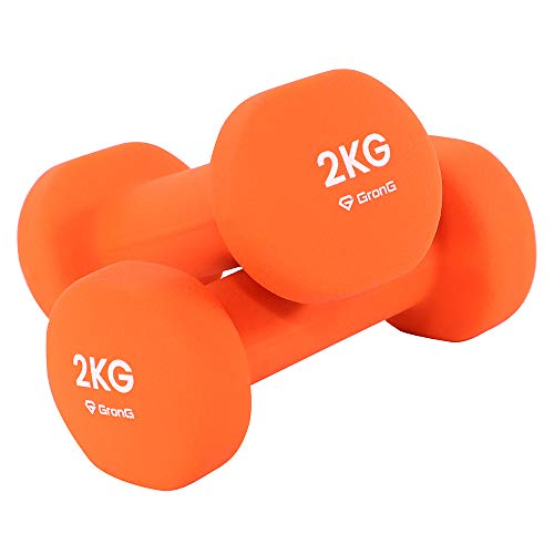 GronG(グロング) ダンベル 2kg 2個セット オレンジ