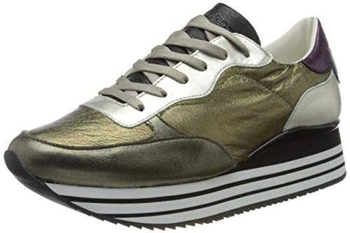 Crime London Damen Dynamic Sneaker, Gold, 40 EU