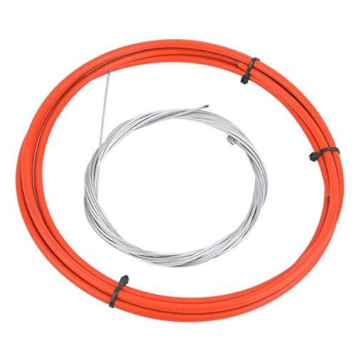 DAUERHAFT Cable de Cambio de Ciclismo Cable de Cambio de Bicicleta de montaña Acero con Alto Contenido de Carbono Antióxido, para Bicicleta de Carretera de montaña(Red)