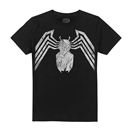 Marvel Venom Emblem Camiseta, Negro (Black Blk), L para Hombre