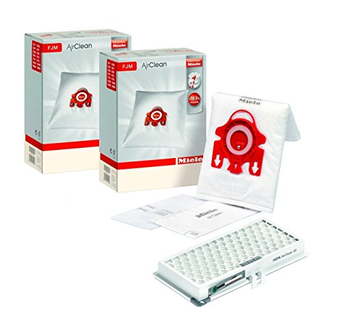 Miele Maintenance Kit mit 8 x Miele 3D FJM Staubbeutel und eine Miele SF HA 50 Aktive HEPA-Filter mit Timestrip