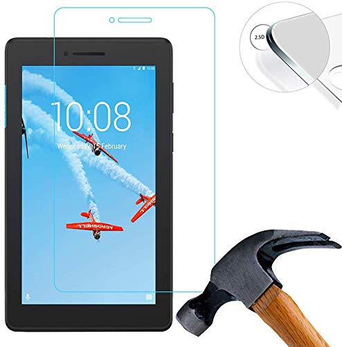 Lenovo Tab E7 TB-7104F 7.0 Inch Screen Protector Glass, 9H Hardness Scratch Resistant Tempered Glass Film (Lenovo Tab E7 TB-7104F)