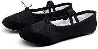 2 Pairs Flats Soft Ballet Shoes Latin Yoga Dance Sport Shoes for Children & Adult, Shoe Size:45 Lightweight (Color : Black)