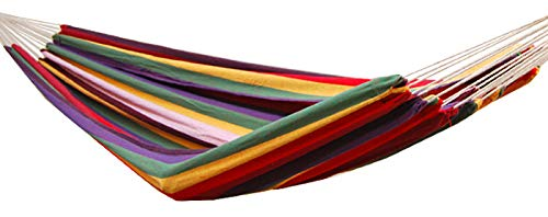 AMANKA Hamaca XXL por 2 Personas 400x160cm | Soporta hasta 150 kg | 100% algodón | Hamacas paracaídas Multicolor