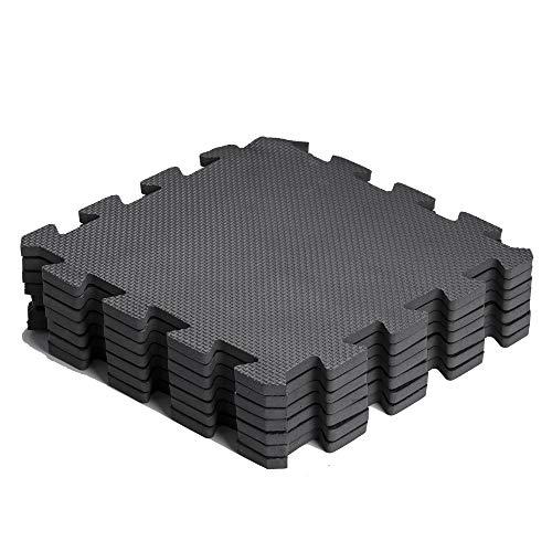 arteesol Schutzmatten Set - 18 Puzzlematten je 30x30x1cm,Premium Bodenschutzmatten Unterlegmatten Fitnessmatten für Sport Fitnessraum Fitnessgeräte Fitness Pool (Standard)