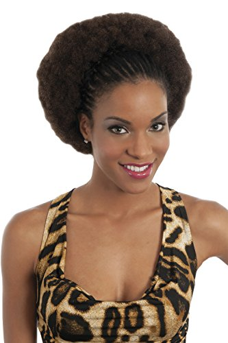 Vivica A Fox Hair Collection HKBK16-V Human Hair Afro Curl Kinky Bulk Extension, 1B, 5.8 Ounce