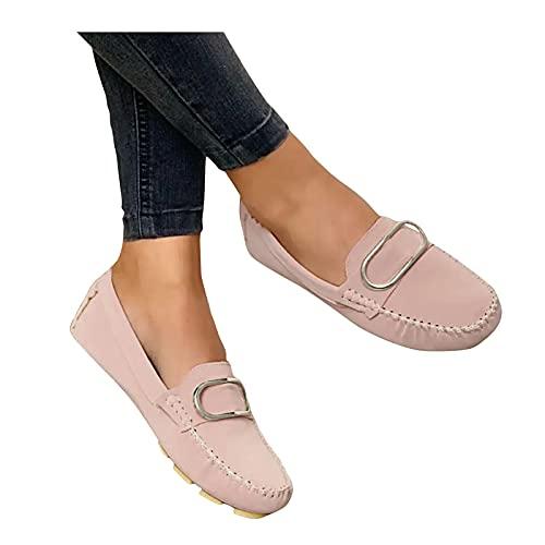 Dasongff Damen Sneaker Mode Bequeme Atmungsaktive Low Top Slippers Freizeitschuhe Elegant Flache Schuhe Loafer Bootsschuhe Flache Leichte Bequeme Hausschuhe Walkingschuhe