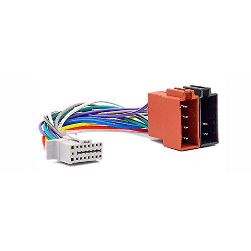 CARAV 15-105 ISO Autoradio Adapterkabel for Panasonic CQ C-/DFX-/DP-/HR-/HX-/MX-/RD-/RDP-/RX-/VCD-Series (Select Models) 16-Pin(22x11mm) - ISO(f)