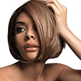 Yemenger Natural Women's Short Bob Wig Heat Resistant MiX Dark Brown Syntheic Hair Wig
