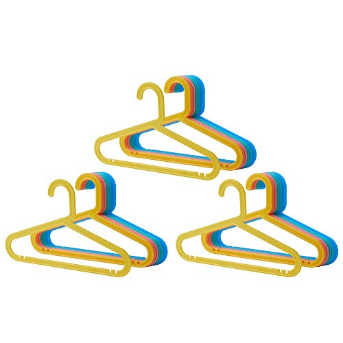 Ikea Kinder Kleiderbügel BAGIS 24 Stück Pastellfarben gemischt
