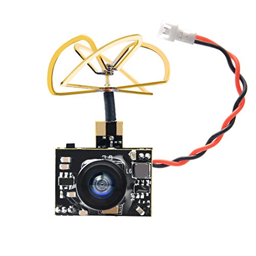 AKK A2 5.8Ghz 200mW FPV Transmitter Raceband 600TVL 1/4 Cmos Mini FPV Micro AIO Camera with Clover Antenna for FPV Drone