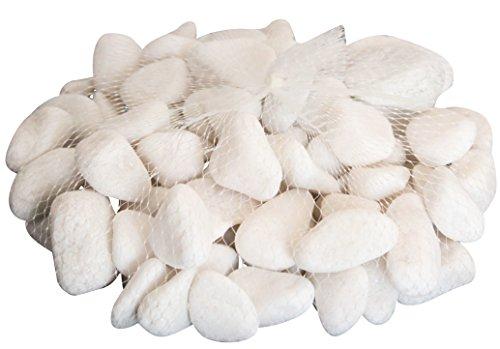 Homeshop3000 Pietre Bianche Naturali Sassolini Confezione 2Kg Decorazione Giardino Fai da Te