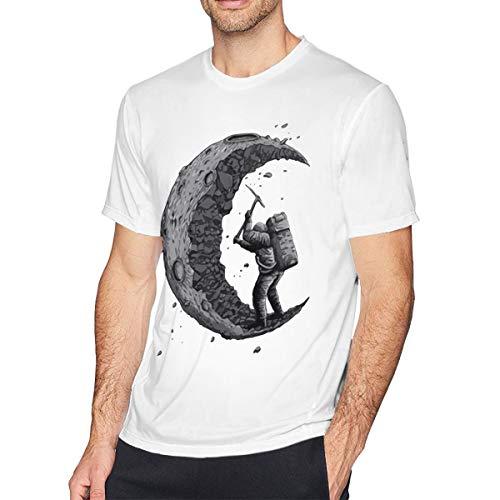 Tシャツ Man 月を掘る Digging The Moon 半袖 ブラック ストレッチ 部屋着 丸首 春夏秋 速乾性 格好いい S~6XL