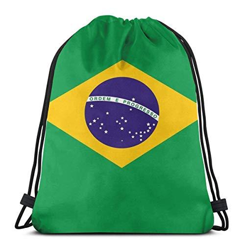 Bolsas De Cordones,Brasil Bandera Nacional De Brasil En Verde, Azul Y Amarillo Verano 2016,Mochila Cordónes Portátil Bolsas con Cordón De Multiusos Gimnasia Saco Bolsa para Viajar Escuela