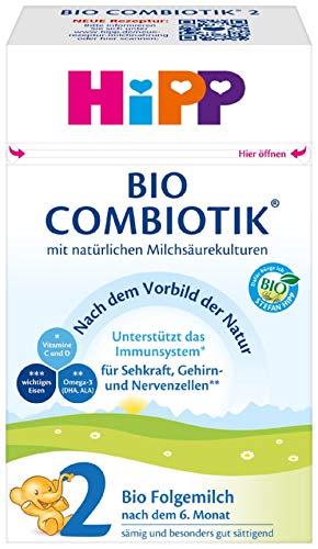 Hipp Bio Milchnahrung 2 Combiotik, 4er Pack (4 x 600 g)