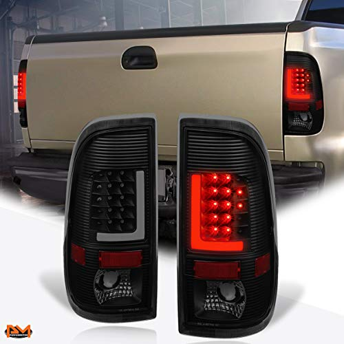 Compatible with Ford Super Duty 97-07 3D LED L-Bar Tail Light Rear Brake/Reverse Lamp Tinted