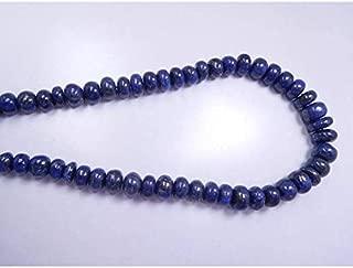 "Jewel Beads Natural Beautiful jewellery Natural Lapis Lazuli Smooth Finished Gemstone 6-11 Mm Rondelle Beads 17-18"" LongCode:- JBB-18489"