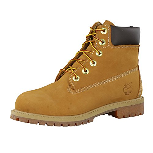Timberland Unisex-Kinder 6 Inch Premium Waterproof (Junior) Klassische Stiefel, Gelb Wheat Nubuck, 38 EU