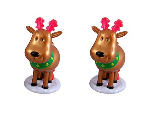 Assorted Christmas Reindeer Pooping Candy Dispensers, Pack of 2