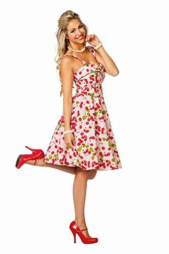 Damen Kostüm Rock'n Roll Kleid Kirsche Karneval Fasching Party Gr.38