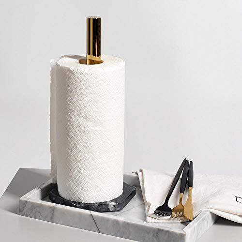 HtapsG Toilettenpapierhalter Arbeitsplatte Kreativer Rollenhalter Küchen-Serviettenhalter Vergoldeter Papierhalter Toilettenpapier-Organizer Lagerregal-1