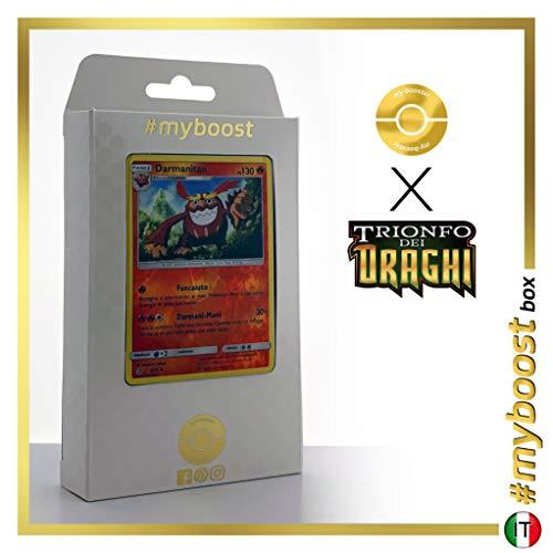 Darmanitant 9/70 Holo Reverse - #myboost X Sole E Luna 7.5 Trionfo dei Draghi - Box di 10 Carte Pokémon Italiane