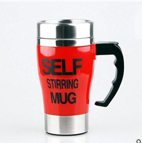 WYFC Automatisches mischen Cup Edelstahl innere Tasse Tee kreativen Kaffeetasse . red